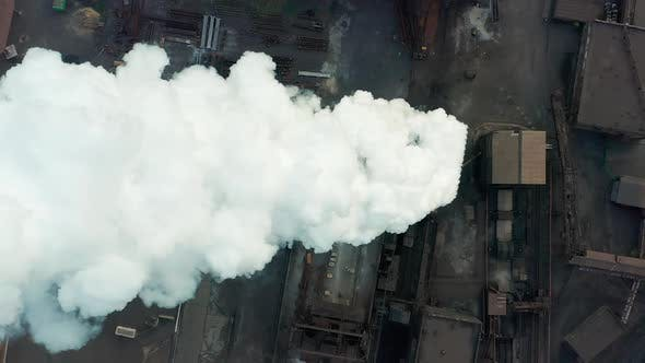 Thumbnail for Aerial View. Smoking Chimney. Air Pollution