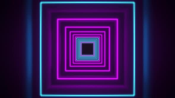Cover Image for Abstract Neon Background Flight Forward Through Corridor