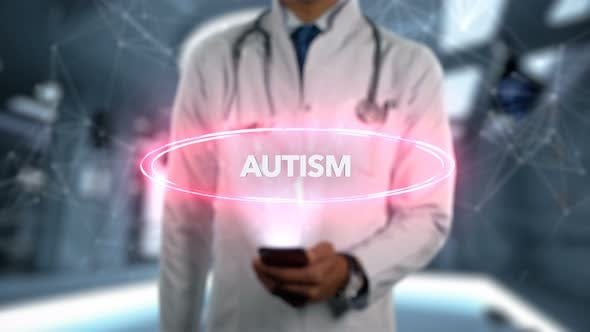 Thumbnail for Autism Male Doctor Hologram Illness Word