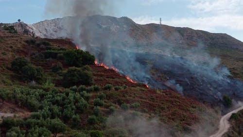 Mountainside on Fire