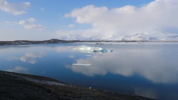 Thumbnail for Iceland View Of Beautiful Glacier Lagoon In Winter 2