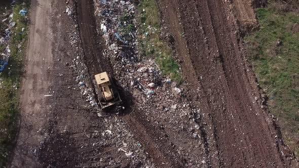 Thumbnail for Bulldozer Work at Garbage Dump