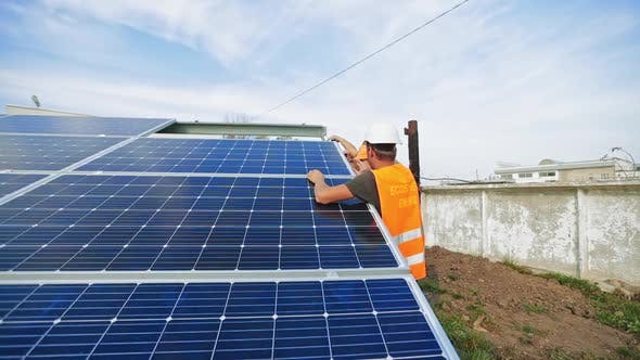 Thumbnail for Installation of Solar Batteries in Summer