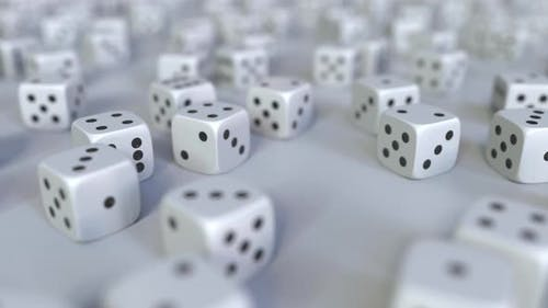 Scattered Gambling Dices