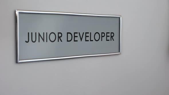 Thumbnail for Junior Developer Office Door, Hand Knocking, Software Supervisor
