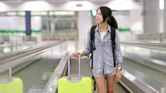 Thumbnail for Backpacker go for a trip in the airport