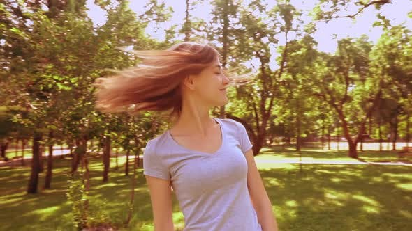 Thumbnail for Attractive Lady Have Fun in City Park