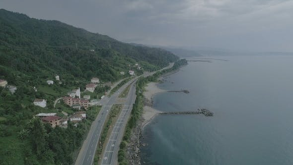 Cover Image for Aerial View Of Coast Road