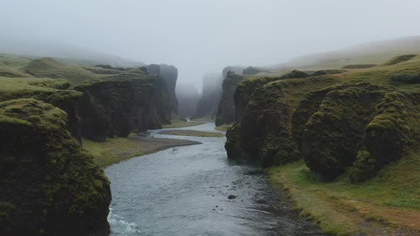 Fjadragljufur River Canyon in Iceland Natural Wonder