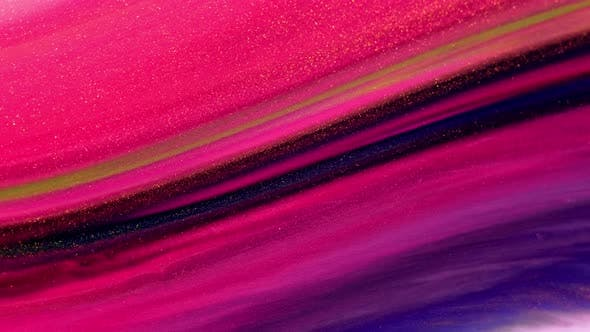 Thumbnail for Colorful Pigment Flow Flowing Mixing Creativity Galaxy Slow Motion Macro