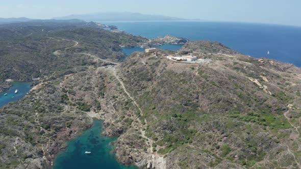 Thumbnail for Drone Flight Over Cap De Creus Cape with Blue Bays
