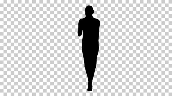 Thumbnail for Silhouette Excited woman