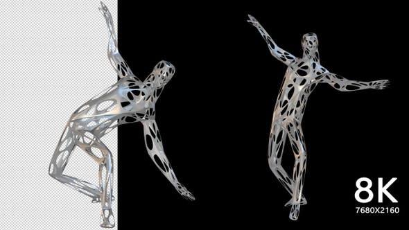 Thumbnail for 8K Wired Modern Dancer