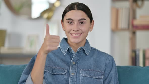 Thumbnail for Latin Woman with Thumbs Up