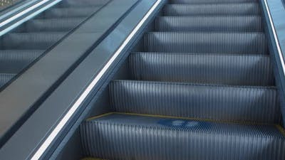 Social Distancing Escalator Graphics Markers