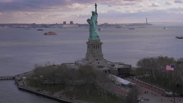 Thumbnail for Statue of Liberty. New York City. Aerial View