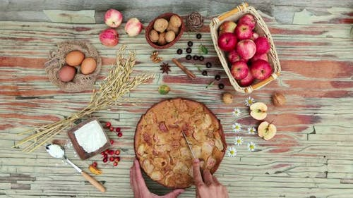 Apple Pie, Flat Lay