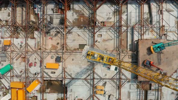 Thumbnail for Top view of construction site in Hong Kong