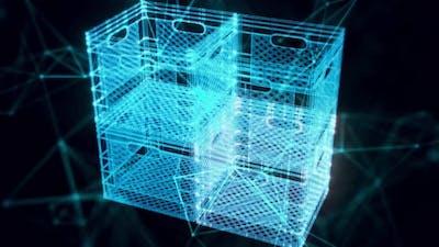Plastic Box Hologram Close Up Hd