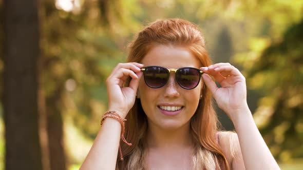 Thumbnail for Portrait of Redhead Teenage Girl in Summer Park