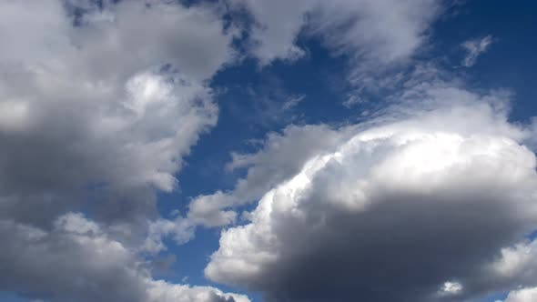 Thumbnail for Natural Sky Beautiful Blue and White Background. Blurry Blue Sky and White Cloud Background for