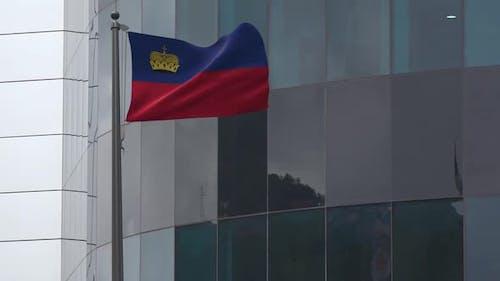 Liechtenstein Flag Background 2K