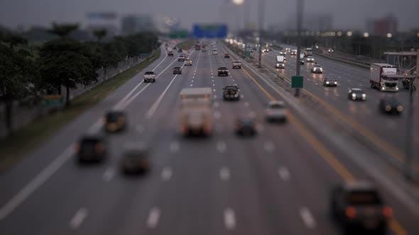Traffic In Freeway