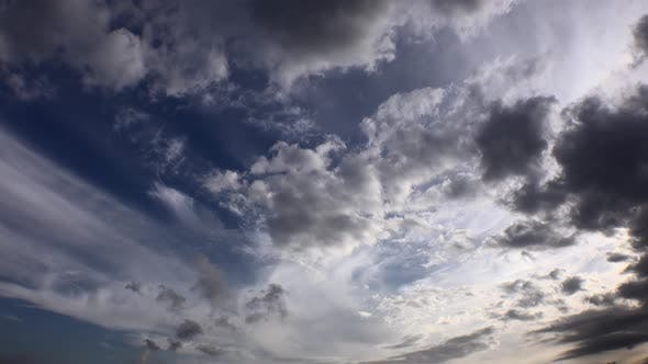 Thumbnail for Variable and Mixed Meteorological Cloud Movements in the Sky