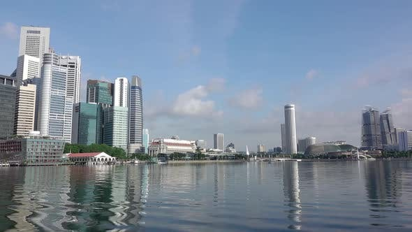 Thumbnail for Marina Bay in Singapore and Skyscrapers