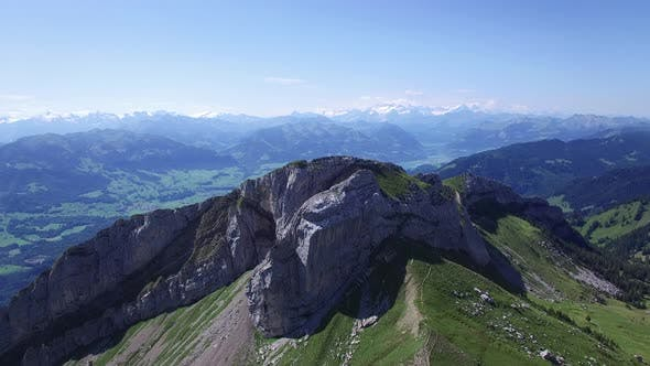 Thumbnail for Aerial View of Mountain Landscape Nature Scenery