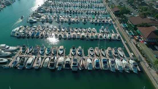 Thumbnail for Aerial View of Yacht Club and Marina in San Pedro, Los Angeles, California,