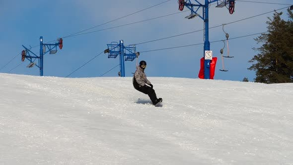 Thumbnail for Snowboarding in the Winter Resort