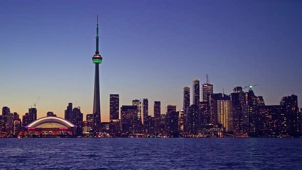 Thumbnail for Toronto, Canada  - The Skyline at Night
