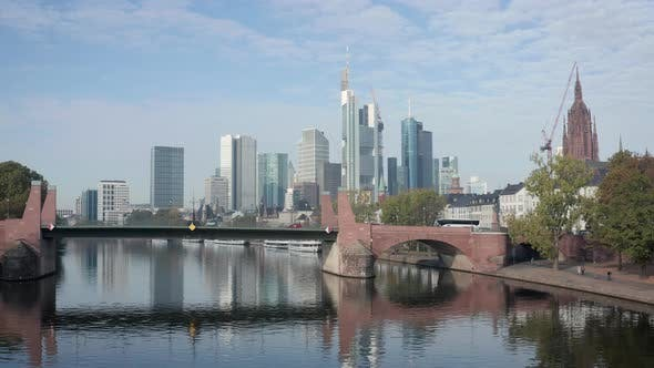 Thumbnail for Aerial footage of the Skyline of Frankfurt am Main, Germany
