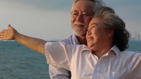 Couple senior travel
