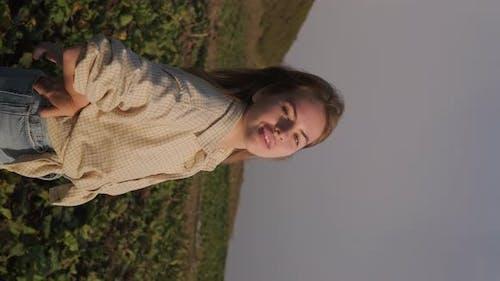 Summer Outdoor Portrait of Adolescent Girl