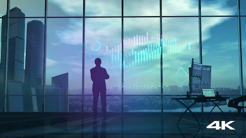 A Businessman Is Carefully Looking At Financial Data 4K