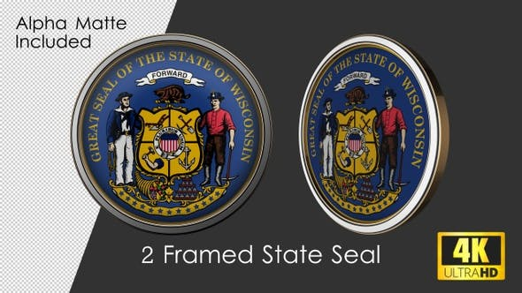 Thumbnail for Framed Seal Of Wisconsin State