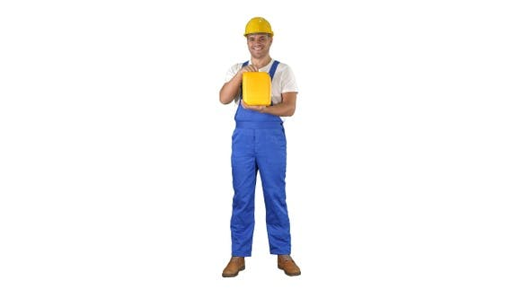 Thumbnail for Bauarbeiter Werbung Baumaterial in