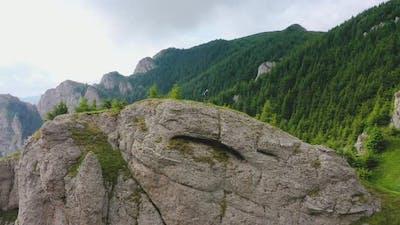 Man Climbing on the Rock