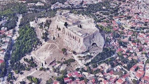 Griechenland Akropolis Luftbild