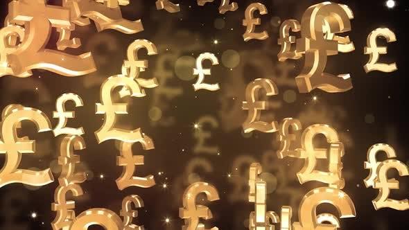 Falling Pound Symbols