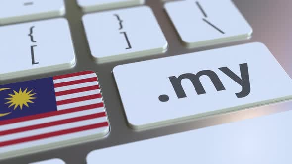 Thumbnail for Malaysian Domain .My and Flag of Malaysia on the Keyboard