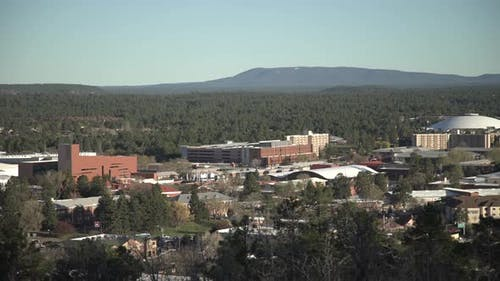 Pan right view of Flagstaff