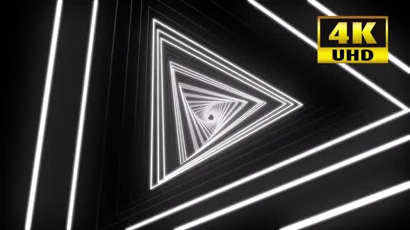Thumbnail for Triangle Neon Tunnel Vj Loop Pack 4k