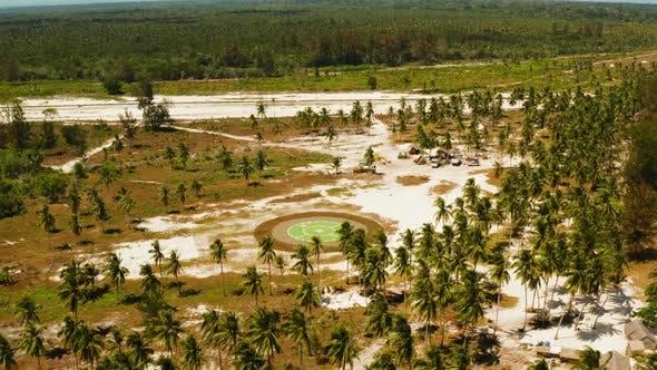 Thumbnail for Helipad on a Tropical Island. Balabac, Palawan, Philippines