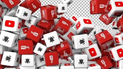 Social Media Icons Transition  - Youtube and Bell