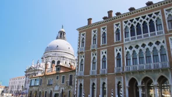 Thumbnail for Wonderful View of Santa Maria Della Salute Church on Grand Canal, Venice Tour