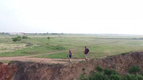 Boyfriend and Girlfriend Trekking