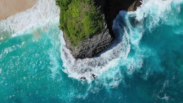 Thumbnail for Bali Island, Indonesia. Coast as A Background from Top View. Turquoise Water Background from Air.